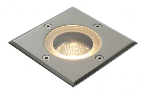 Polished stainless steel & clear glass Ground Light GH88042V by Endon